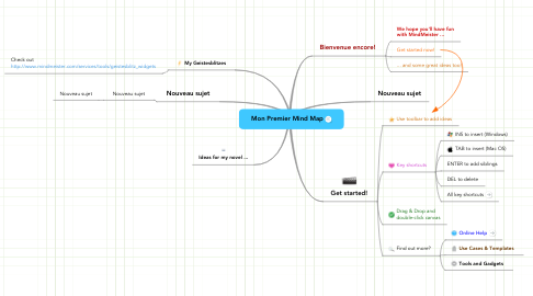 Mind Map: Mon Premier Mind Map