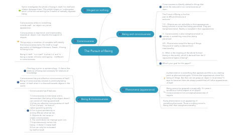 Mind Map: The Pursuit of Being
