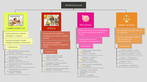 Mind Map: BIOMOLECULAS