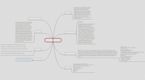 Mind Map: Copy of Excel 2013