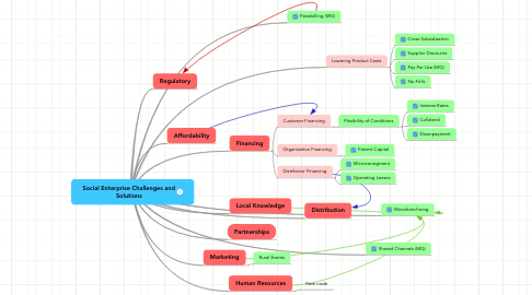 Mind Map: Social Enterprise Challenges and Solutions
