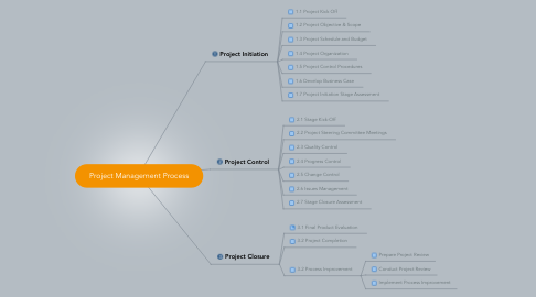Mind Map: Project Management Process