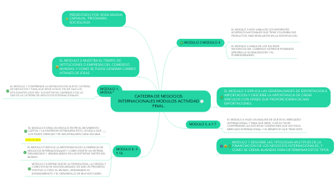 Mind Map: CATEDRA DE NEGOCIOS INTERNACIONALES MODULOS ACTIVIDAD FINAL.