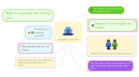 Mind Map: My Rights as a Citizen
