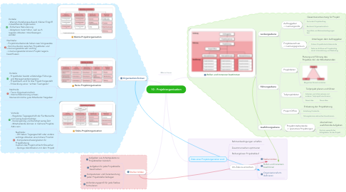 Mind Map: 10 - Projektorganisation
