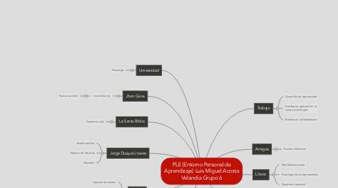 Mind Map: PLE (Entorno Personal de Aprendizaje) Luis Miguel Acosta Velandia Grupo 6