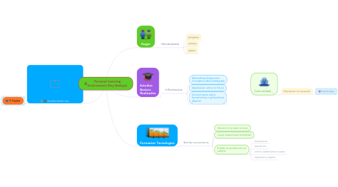 Mind Map: Personal Learning Environment (Eny Bedoya)