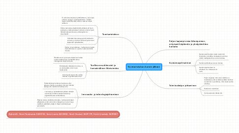Mind Map: Tuontantotalous kurssin jälkeen