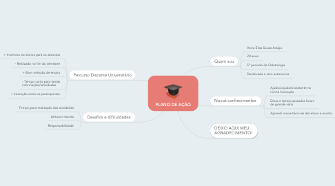 Mind Map: PLANO DE AÇÃO