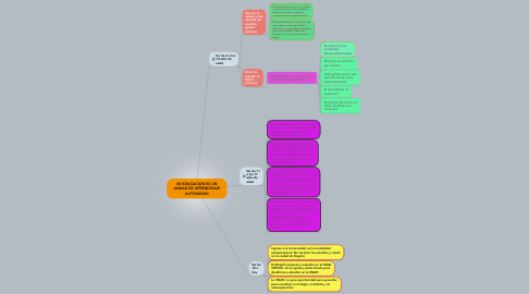 Mind Map: MI EDUCACION ES UN ANDAR DE APRENDIZAJE AUTONOMO