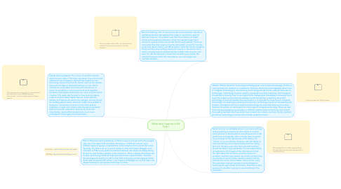 Mind Map: What have I learned in Ed Tech?