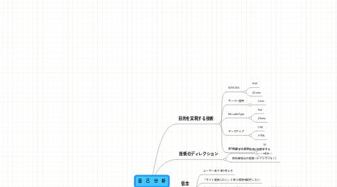 Mind Map: 自 己 分 析