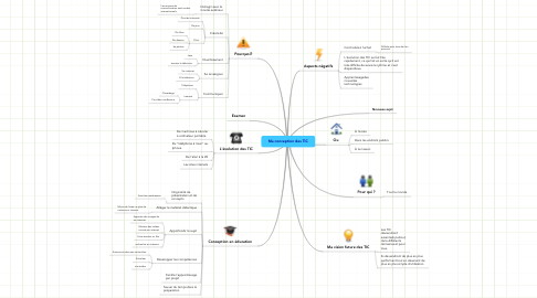 Mind Map: Ma conception des TIC