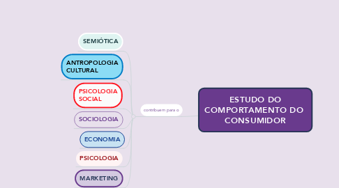 Mind Map: ESTUDO DO COMPORTAMENTO DO  CONSUMIDOR