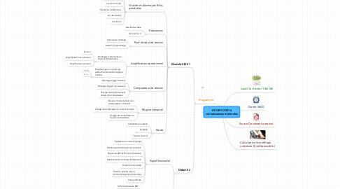Mind Map: DS SEI S2 2016connaissances minimales