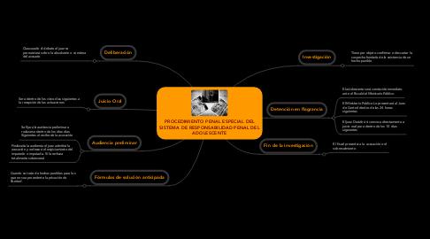 Mind Map: PROCEDIMIENTO PENAL ESPECIAL DEL SISTEMA DE RESPONSABILIDAD PENAL DEL ADOLESCENTE