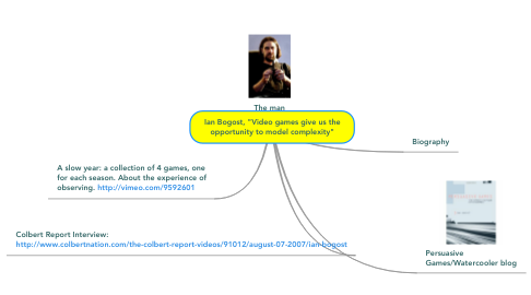 "Mind Map: Ian Bogost, ""Video games give us the opportunity to model complexity"""