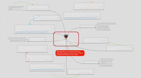 Mind Map: Effective Strategies for Promoting Personal Success in College