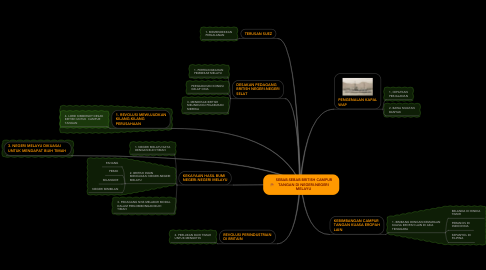 Mind Map: SEBAB-SEBAB BRITISH CAMPUR TANGAN DI NEGERI-NEGERI MELAYU