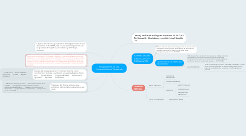 Mind Map: Organigrama de Las Cooperativas en Venezuela
