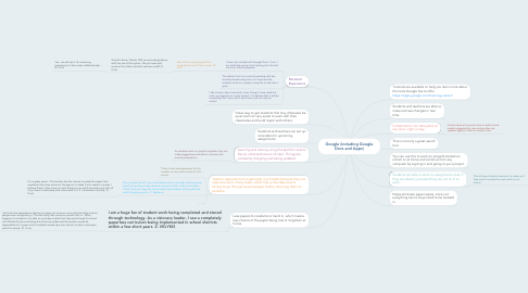 Mind Map: Google (including Google Docs and Apps)