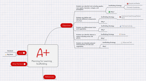 Mind Map: Planning for Learning Scaffolding