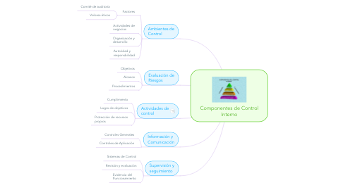 Mind Map: Componentes de Control Interno