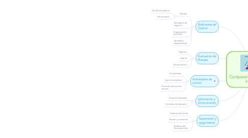 Mind Map: Componentes de Control Interno