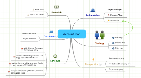 Mind Map: Account Plan