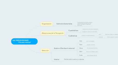 Mind Map: LAS PERCEPCIONES                 Proceso mental