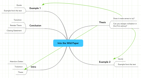 Mind Map: Into the Wild Paper