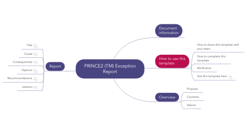 Mind Map: PRINCE2 (TM) Exception Report