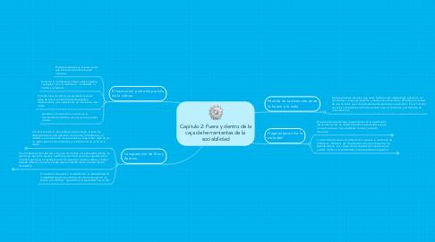 Mind Map: Capítulo 2: Fuera y dentro de la caja de herramientas de la sociabilidad