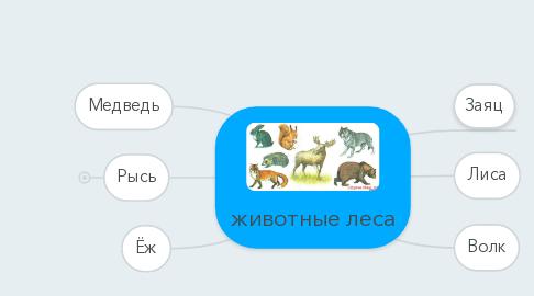 Mind Map: животные леса