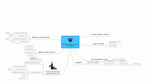 Mind Map: Transformação do vinhoem vinagre