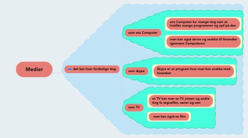 Mind Map: Medier
