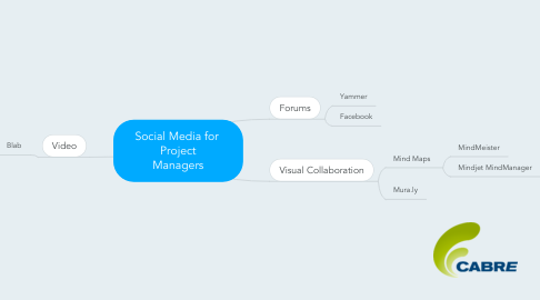 Mind Map: Social Media for  Project Managers