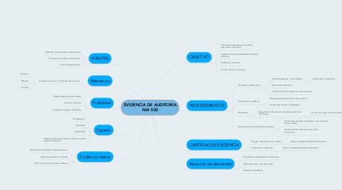 Mind Map: EVIDENCIA DE AUDITORÍA NIA 500