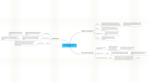 Mind Map: The effect of the media on sociey.
