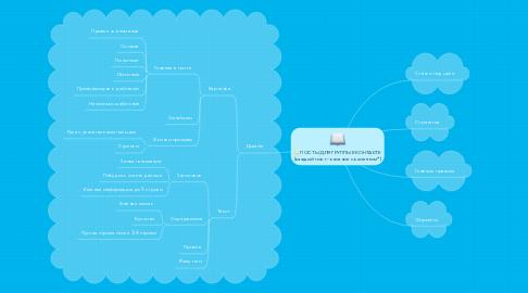 Mind Map: ПОСТЫ ДЛЯ ГРУППЫ ВКОНТАКТЕ (каждый пост - касание с клиентом*)