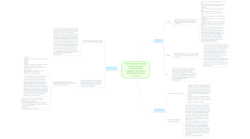 Mind Map: Hamlet supports Socrates teaching on moral responsibility by suggesting that people do what seems best at the time.