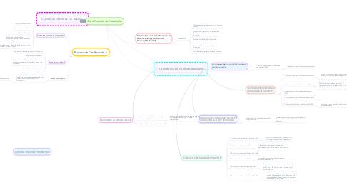 Mind Map: Certificación de hospitales