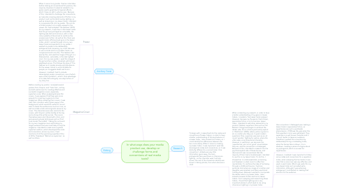 Mind Map: In what ways does your media product use, develop or challenge forms and conventions of real media texts?