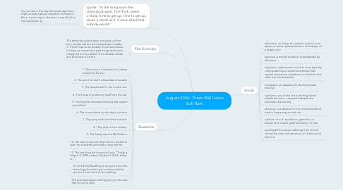 Mind Map: August 2026: There Will Come Soft Rain