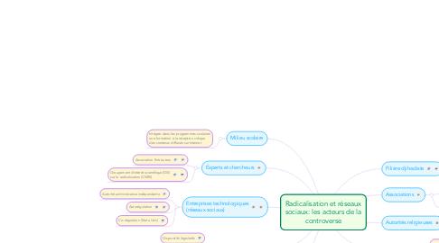 Mind Map: Radicalisation et réseaux sociaux: les acteurs de la controverse