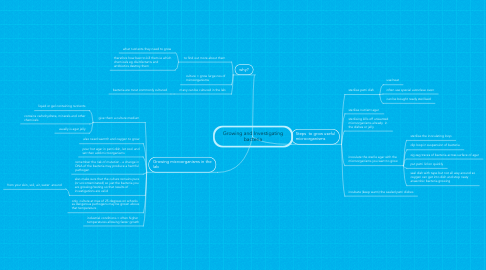 Mind Map: Growing and Investigating bacteria