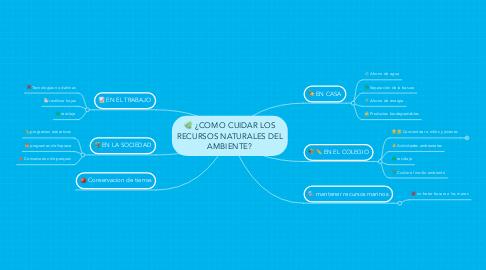Mind Map: ¿COMO CUIDAR LOS RECURSOS NATURALES DEL AMBIENTE?
