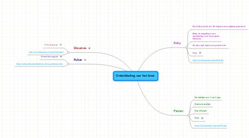 Mind Map: Ontwikkeling van het kind.