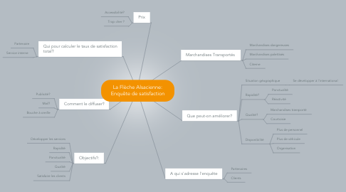 Mind Map: La Flèche Alsacienne: Enquête de satisfaction