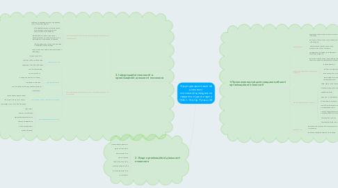 Mind Map: Структура організаційної діяльності психолога(індивідуальне завдання студента групи ПСб-1-15-4.Од Путько І.М.